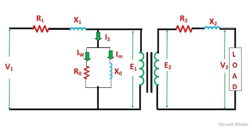 equivalent circuit of a transformer? referred to primary and  transformer circuit diagram #12
