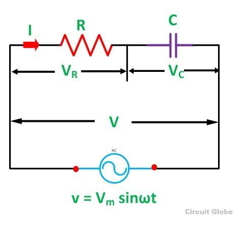 what is rc series circuit? phasor diagram and power curve circuitrc series circuit