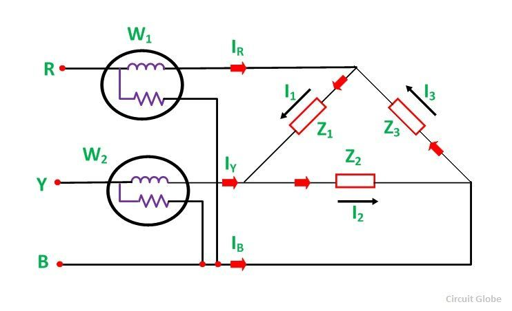 Two Wattmeter Method of Power Measurement - In Star & Delta