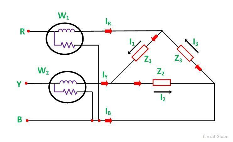 Two Wattmeter Method Of Power Measurement In Star