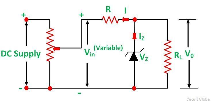 Zener Diode Wiring Diagram : Applications of zener diodes voltage regulator meter