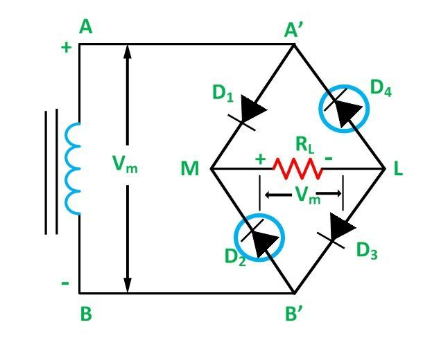 full wave bridge rectifier its operation advantages half wave bridge rectifier diagram diode bridge rectifier wiring diagram for #5