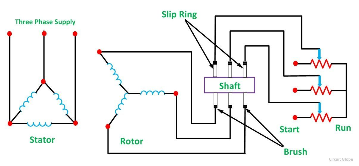 slip ring motor resistance connection diagram periodic. Black Bedroom Furniture Sets. Home Design Ideas