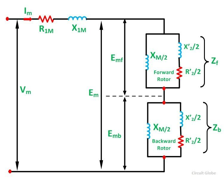 Wiring Diagram Single Phase Induction Motor : Equivalent circuit of a single phase induction motor