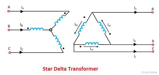 phase shift in star delta transformer