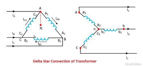 delta-star-connection-of-transformer