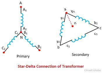 star-delta-connection-of-transformer-phase-shift