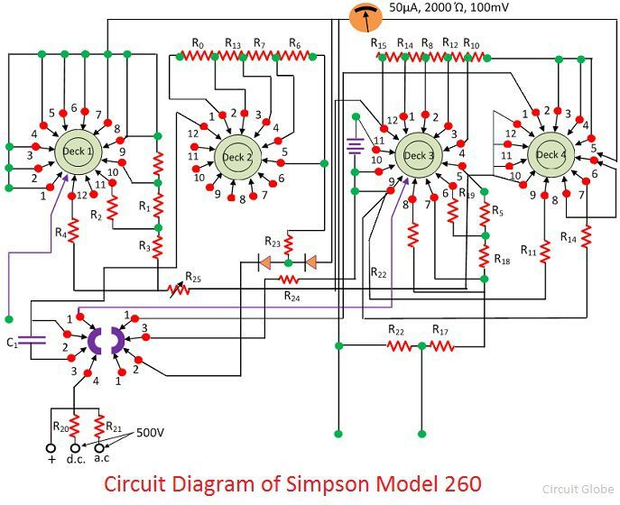 Ohmmeter Schematic Circuit Diagram on