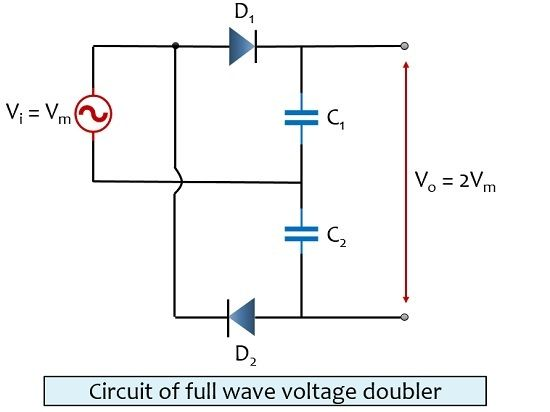 circuit of full wave voltage doubler